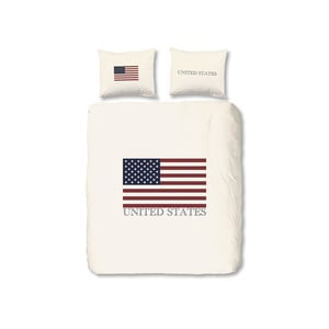Obliečky USA, 140 x 200 cm, biele