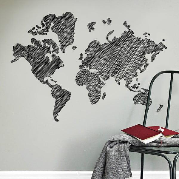 Samolepka na stenu Kreslená mapa