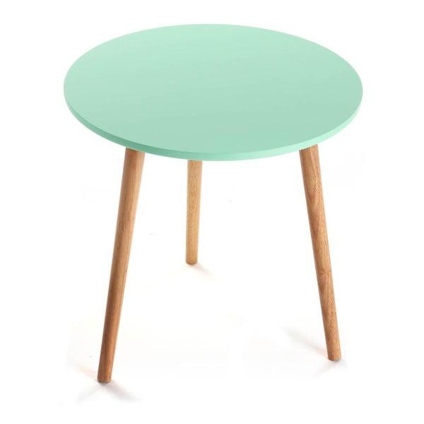 Tyrkysový odkladací stolík Auxiliary Turquoise, 50 cm