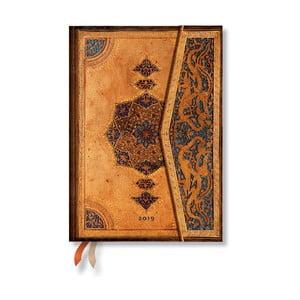 Diár na rok 2019 Paperblanks Safavid Horizontal, 13 x 18 cm