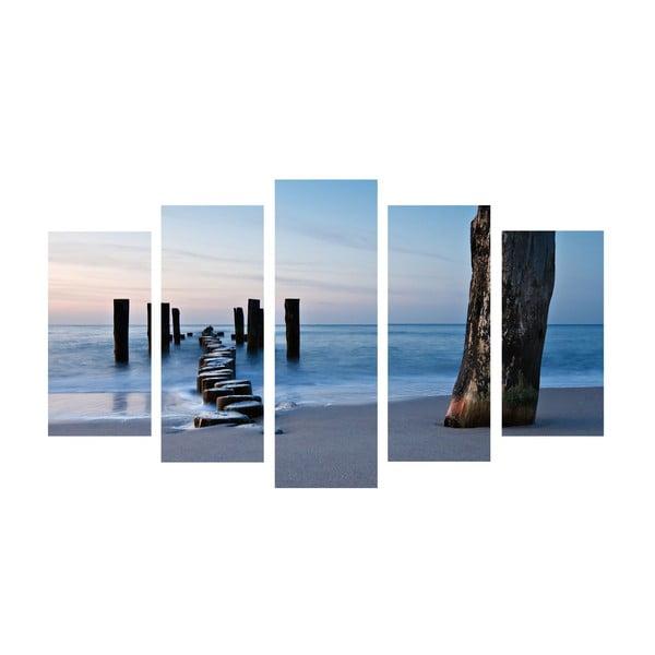 5-dielny obraz Walk Sea, 60x100 cm
