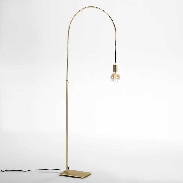 Voľne stojacia lampa z kovu v zlatom prevedení Thai Natura
