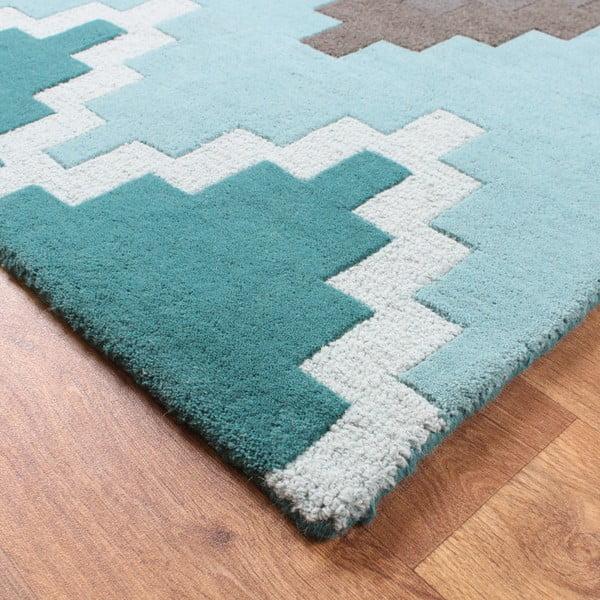 Vlnený koberec Matrix Cuzzo Teal 160x230 cm