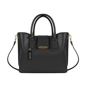 Čierna kožená kabelka Maison Bag Candy