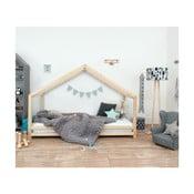 Detská posteľ z prírodného smrekového dreva Benlemi Sidy, 120×200 cm