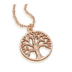 Náhrdelník s krištáľmi Swarovski ® kryštály Gemseller Tree of Life Rose