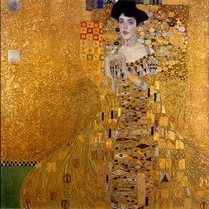 Reprodukcia obrazu Gustav Klimt Adele Bloch-Bauer I, 80x80cm