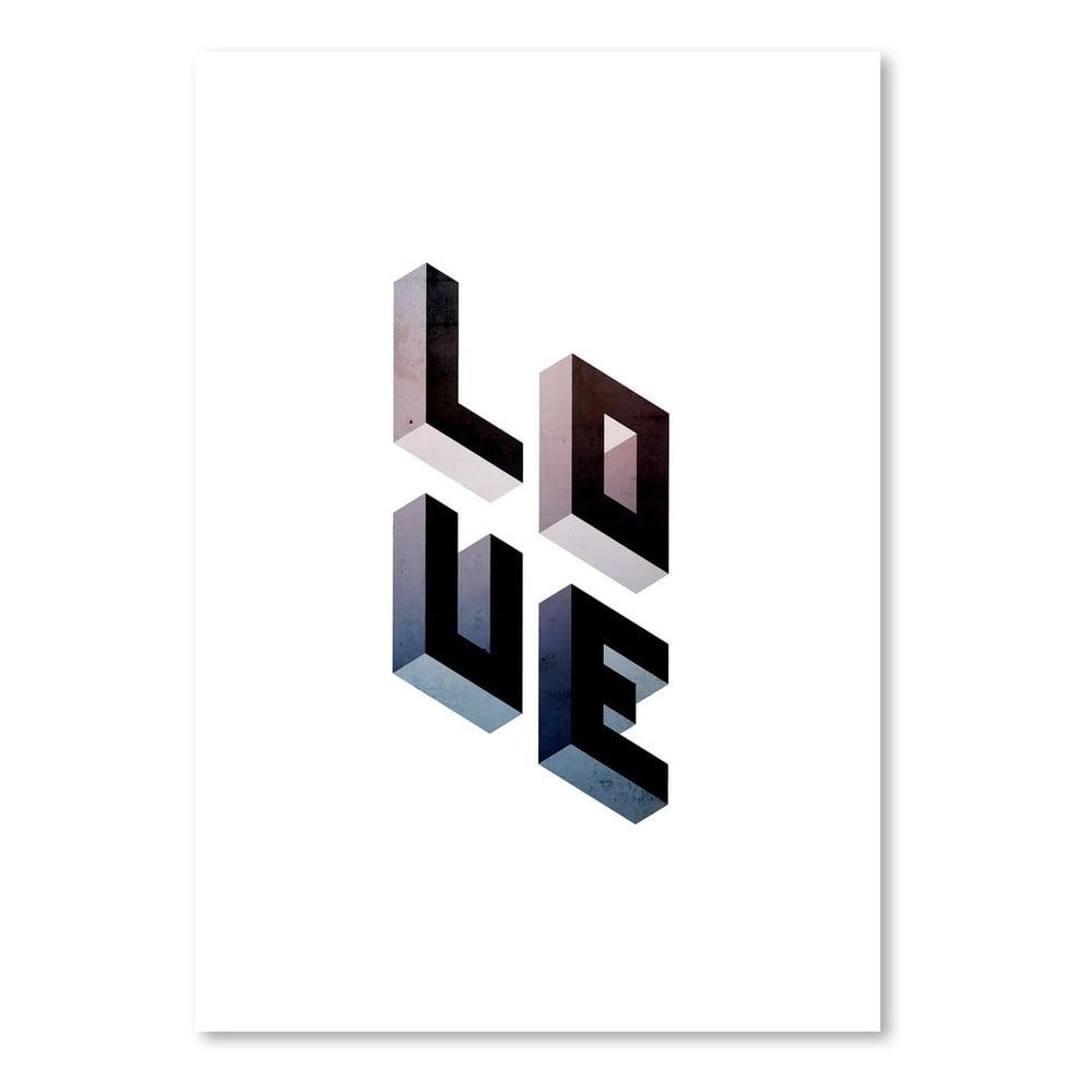 Plagát Americanflat Geometric Love, 30 × 42 cm