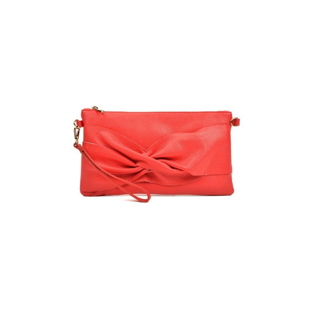 1937ac3464 Červená kožená listová kabelka Carla Ferreri Gino