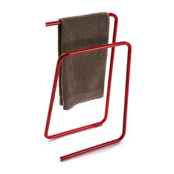 Červený kovový stojan na uteráky Versa