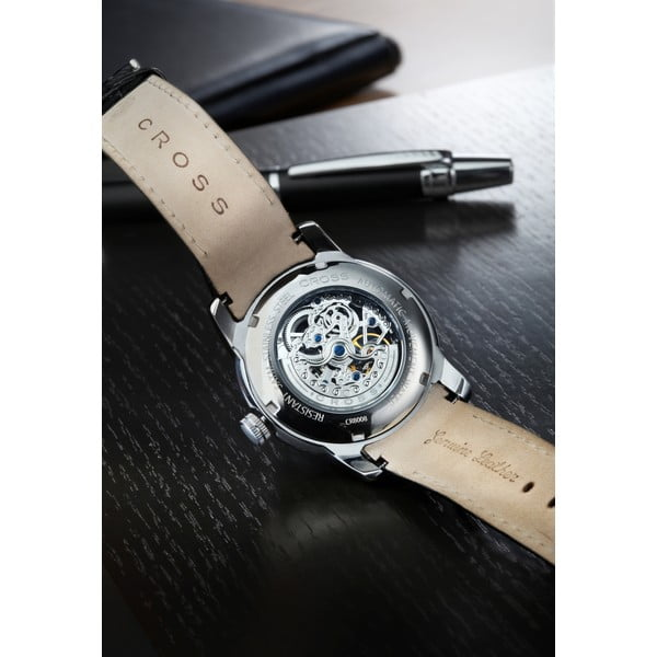 Pánske hodinky Cross Palatino Automatic Silver White, 42 mm