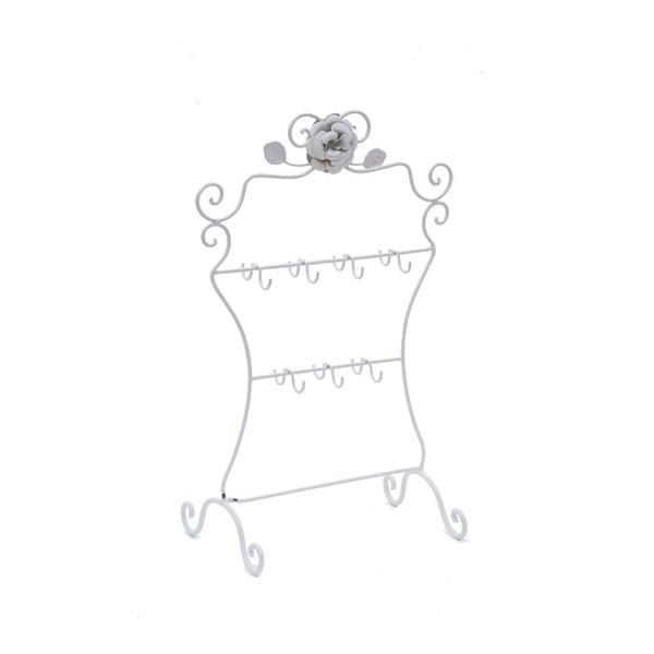 Kovový stojan na šperky White Rose
