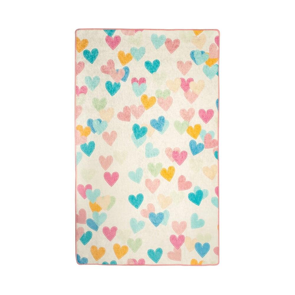 Detský koberec Hearts, 140 × 190 cm