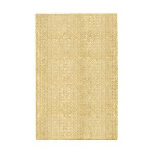 Žltý obojstranný koberec vhodný aj do exteriéru Green Decore Viva, 60 × 90 cm