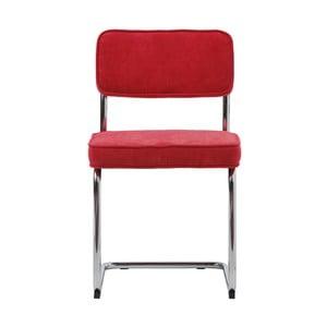 Malinovočervená jedálenská stolička Unique Furniture Rupert Bauhaus