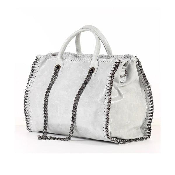 Kožená kabelka Gloria, biela