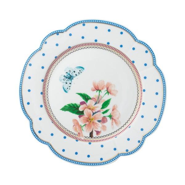 Porcelánový tanier  Dottie od Lisbeth Dahl, 19 cm, 4 ks