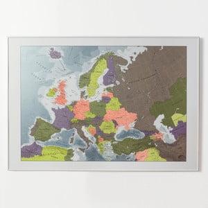 Magnetická mapa Európy The Future Mapping Company Europe, 100 x 70 cm