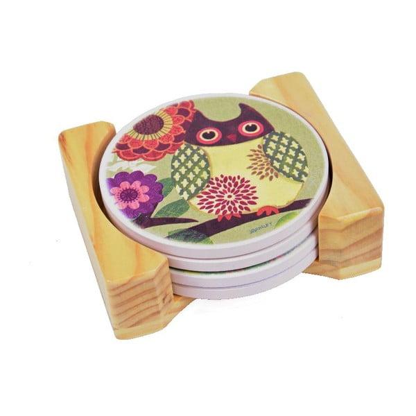 Podtácky Owl (4 ks)