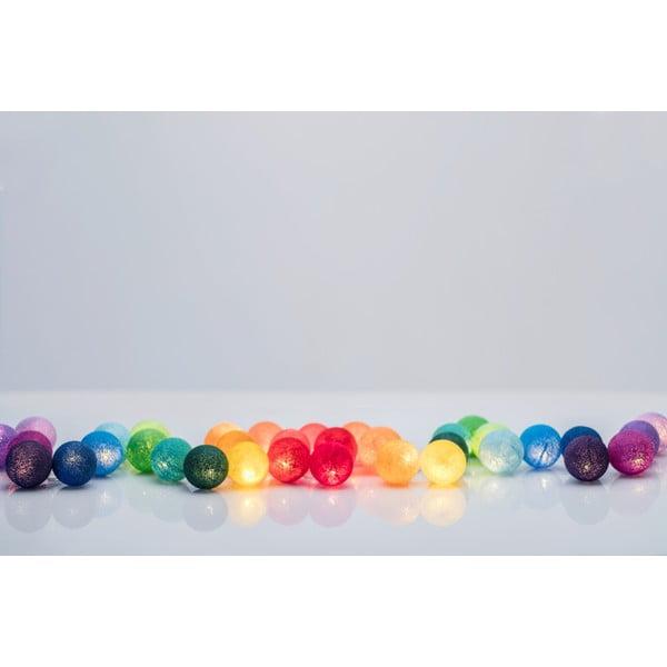 Svietiaca reťaz Irislights Rainbow, 35 svetielok