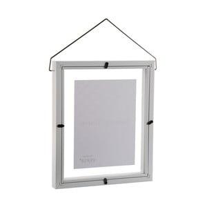 Biely závesný fotorám VERSA, na fotografii 13×18cm