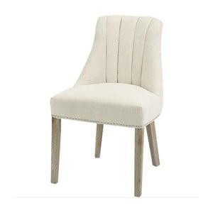 Krémová jedálenská stolička s prírodnými nohami Artelore Jenkins