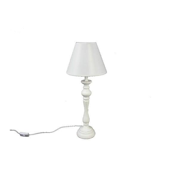 Stolná lampa Wood White, 48,5 cm