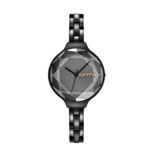 Dámske čierne hodinky s kovovým remienkom Rumbatime Orchard