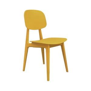 Žltá jedálenská stolička Leitmotiv Vintage
