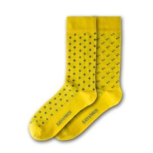 Sada 2 párov unisex žlutých ponožiek Black&Parker London Waddesdon, veľkosť 37 - 43