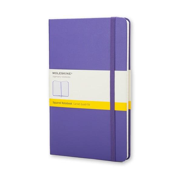 Malý fialový zápisník Moleskine Briliant Hard, štvorčekovaný