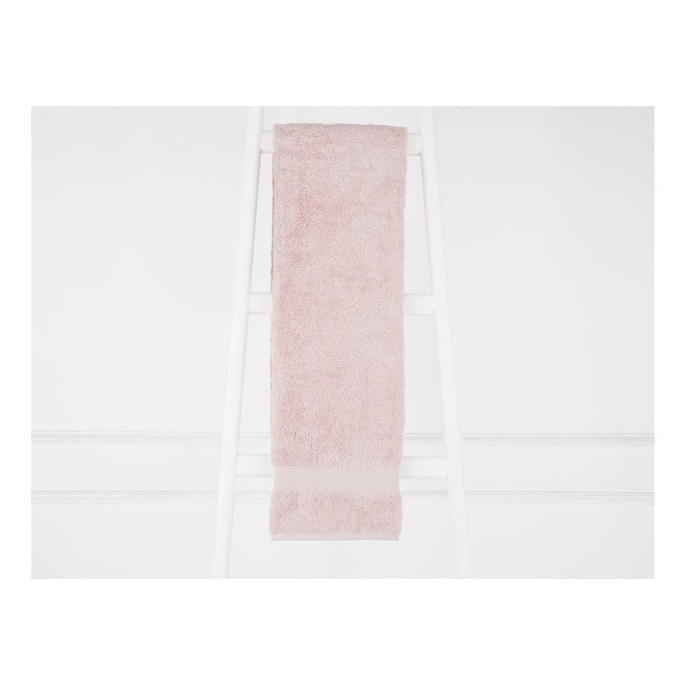 Púdrovoružová bavlnená osuška Madame Coco Ethel, 90×150 cm
