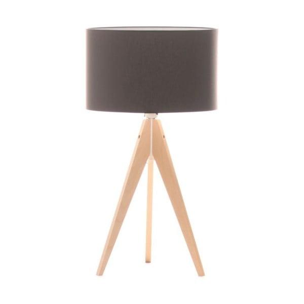 Hnedá stolová lampa Artist, breza, Ø 33 cm