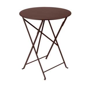 Hnedý skladací kovový stôl Fermob Bistro