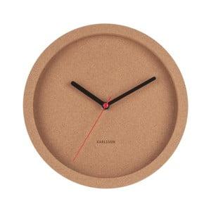 Hnedé nástenné korkové hodiny Karlsson Tom, Ø26cm