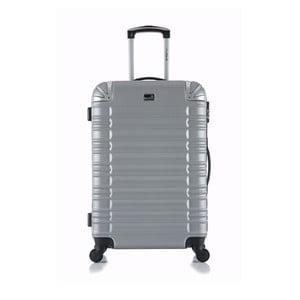Cestovný kufor v striebornej farbe na kolieskach Blue Star Lima, 31 l