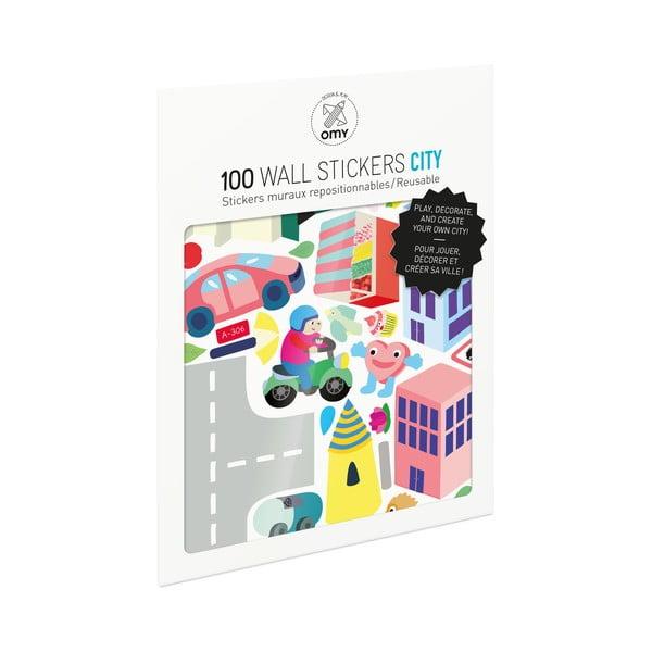 Sada samolepiek OMY City, 100 ks