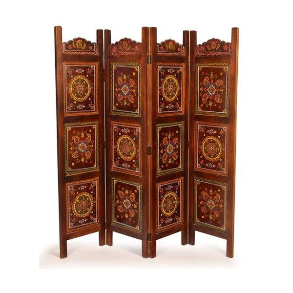 Paraván Orient 204x181 cm, čokoládový