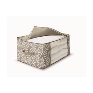 Hnedý uložný box na prikrývky Cosatto Floral, 45 x 60 cm