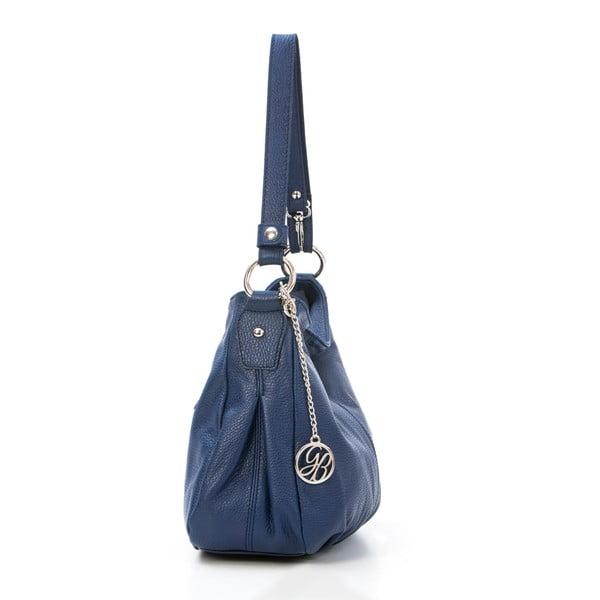 Kožená kabelka Stefano, tmavo modrá