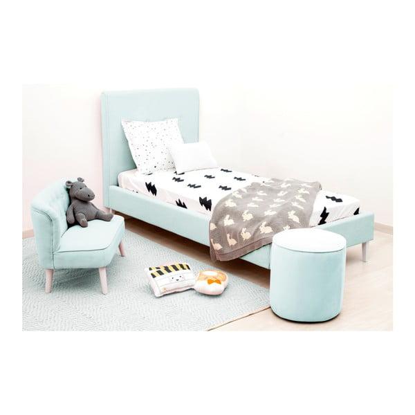 Detský modrý sedací puf PumPim Ava