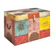 Farebná úložná truhla z mangového dreva Støraa Vito