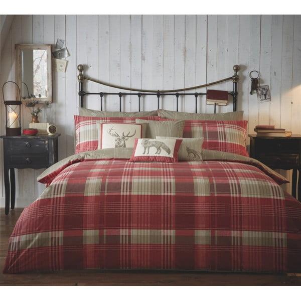 Obliečky Connoly Check Red, 135x200 cm