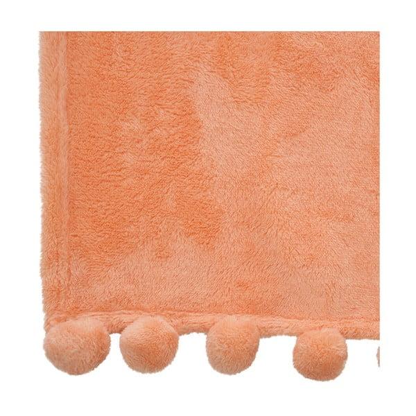 Pléd Pom-Pom Orange, 130x170 cm