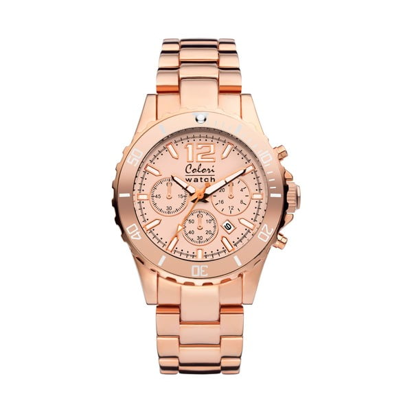 Hodinky Colori 40 All Steel Rose Chronolook