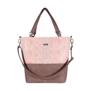 Ružovo-béžová kabelka Dara bags Lele No.579