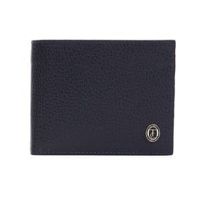 Modrá pánska kožená peňaženka Trussardi Pickpocket, 12,5 × 9,5 cm