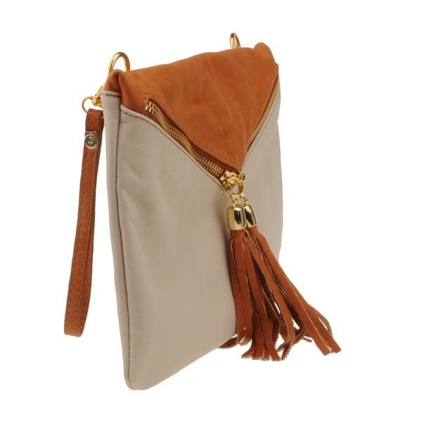 Béžovo-hnedá kabelka Matilde Costa Carpino