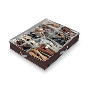 Hnedý organizér na 12 párov obuvi Domopak Classic