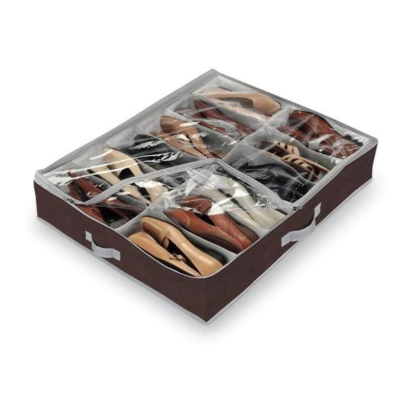 Hnedý organizér na 12 párov topánok Domopak Classic